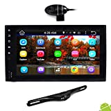 Premium 6.5' Double-DIN Android Car Stereo Receiver With Bluetooth and GPS Navigation - HD DVR Dash Cam and...