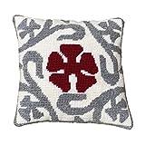 Kit de bordado para cojín | cañamazo impreso de 40cm x 40 cm | incluye lana y aguja de tapicería | Diseño Eixample | de Delicatela