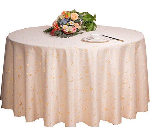Black Temptation Hôtels Mariages Banquets Accessoires de Table Nappes Rondes Couverture de Table Blanc (200 * 200 CM)