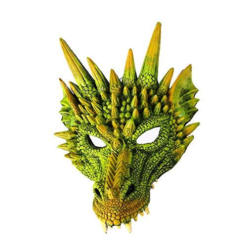 Brownrolly Realistische 3D-Drachenmaske, Halloween-Karnevalsparty spielt Dekoration