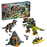 Questo set di gioco con dinosauro Lego Jurassic World include 4 minifigure Dinosauro T.Rex Lego Jurassic World in plastica stampata è costruibile con diversi colori Gli accessori includono il walkie-talkie di Owen Grady e l'elemento lattina di limona...