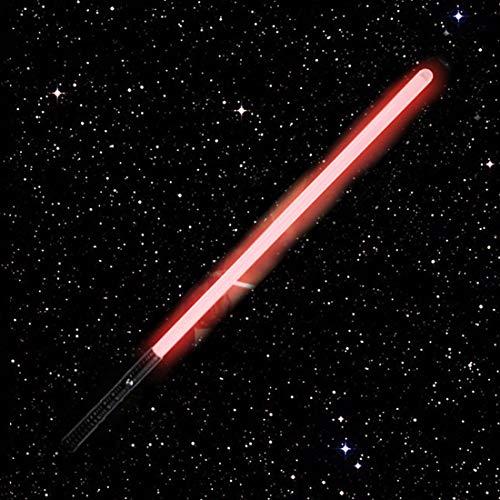 Sable De Luz De Star-Wars, Mango De Metal, Carga USB, Espada Láser Intermitente, Modos De Brillo USB Y Efectos De Sonido De Combate De Alta Simulación, Sable De Luz De Juguete De 14.43C(Color:rojo)