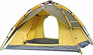 Suliko Family Camping Tent, 2-3 Person 3 Usages Double Layer Waterproof Sun Shelter, Automatic Instant Pop Up Tents for Outdoor