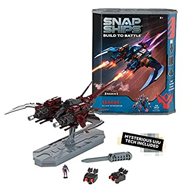 Snap Ships Scarab K.L.A.W. Interceptor — Construction Toy for Custom Building and Battle Play — Ages 8+
