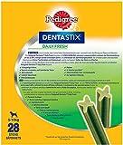 Pedigree DentaStix Fresh Hundesnack für kleine Hunde (5-10kg), Zahnpflege-Snack mit Eukalyptusöl und Grüner Tee-Extrakt, 4 Packungen je 28 Stück (4 x 440 g) - 2