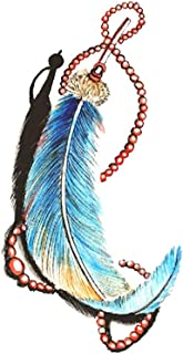 Akabsh_accessory Waterproof 3D Temporary Arm Tattoo Stickers,Cool Girls Feather Pattern Fake Tattoo Paper