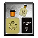 Evaflorparis Whisky for Men Gift Box Eau de Toilette 100 Ml + Miniature 7.5 Ml + Travel Perfume 20 Ml Set Perfume Spray Men Perfume Evaflorparis 520 g