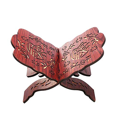 Hölzernes Bücherregal Eid Mubarak Al-Fitr Bücherregal Kuran Koran Koran Heiliges Buch Ständer Halter für islamische Muslime der HUI-Nationalität