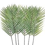 Aisamco - 6 hojas artificiales de palma, hojas de palma, hojas de palmera tropicales, hojas de palma, hojas de monstera sintética, 73,66 cm de alto, para decoración de hogar, boda, palma