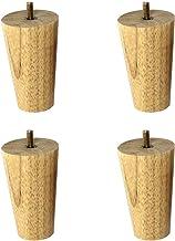 DX Set van 4 houten tafelpoten, meubelpoten van eiken, stoelpoten, conische bedpoten, projecten om thuis te knutselen, met...