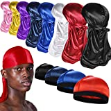 8+4 Silky Durag with Wave Caps for Men, Satin Durag Pack for 360 Waves,A