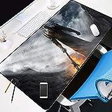 alfombrilla de ratón ambiental Alfombrilla para Juegos 1000x500x3mm Monstruo del Señor Oscuro de los Anillos Resistente al Agua,Base de Goma Antideslizante XXL Alfombrilla de ratón para computadora Ga