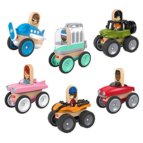 Fisher-Price Wonder Makers Design System Vehicle 6-Pack [Amazon Exclusive]