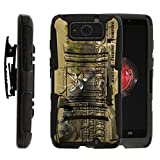 TurtleArmor   Compatible with Motorola Droid Maxx Case   Droid Ultra Case [Hyper Shock] Hard Reinforced Rugged Impact Hybrid Cover Holder Belt Clip Holster - Deer Hunting Season