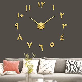 Vangold Large DIY Wall Clock Modern 3D Wall Clock with Arabic Numerals for Home Office Decorations Gift