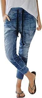 Aogo, pantaloni da jogging da donna, con coulisse e elastico in vita
