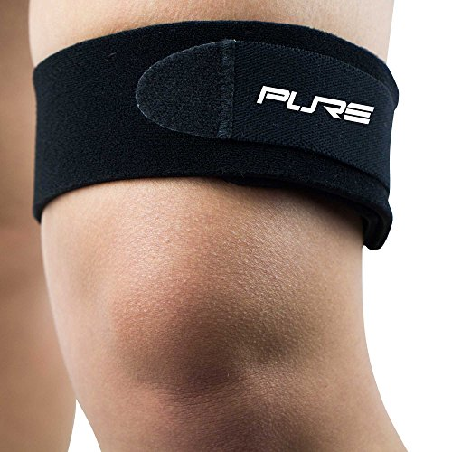 IT Band Strap for Knee – Helps Relieve Knee Pain from Running – ITB Runners Knee, Iliotibial Band, Compression Strap Neoprene (L/XL, Black)