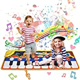 Tobeaep 110*36CM Music Mat,19 Piano Key Playmat Touch Play Game Dance Blanket Carpet