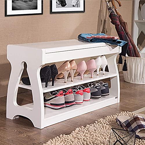 Inicio Equipo Zapatero Taburete retro de madera maciza para zapatos Taburete de almacenamiento Taburete de almacenamiento Puerta multifunción Banco de zapatos Gabinete simple para zapatos Soporte r