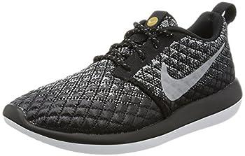Nike Women s Roshe Two Flyknit 365 Sneaker Shoes  Wolf Grey/Wolf Grey-black-white 6 B M  US