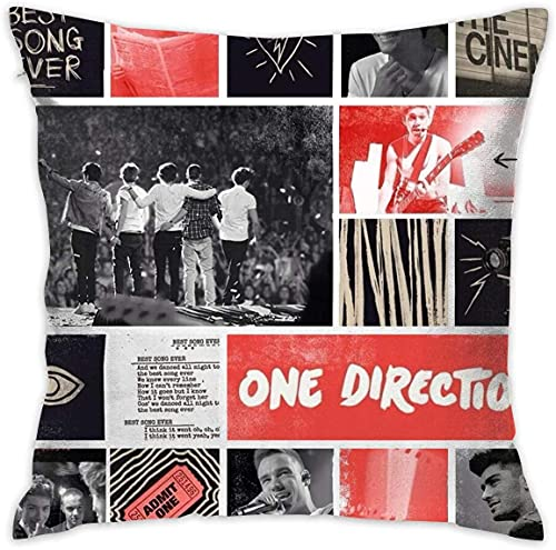 SHAA One Direction - Funda de almohada decorativa para lectura (40 x 40 cm)