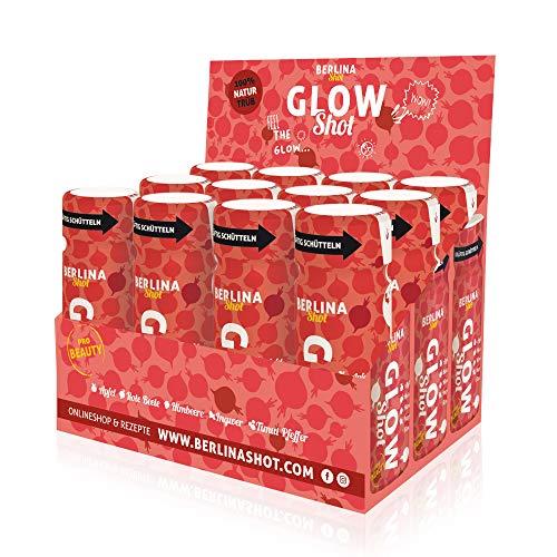 Berlina Glow Shot Box - 12 Shots à 60ml.Beauty Booster aus Rote Beete-, Himbeer-, Apfelsaft, Zitrone und schwarzem Timut Pfeffer. Bleib´ste schön.