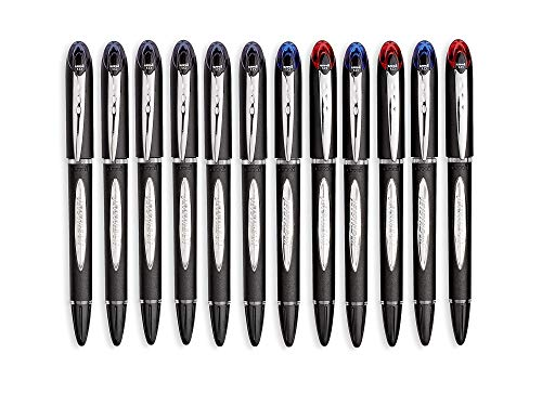 uni-Ball Jetstream Ballpoint Pens, Bold Point (1.0mm), 6 Black + 6 Assorted Colors Pack