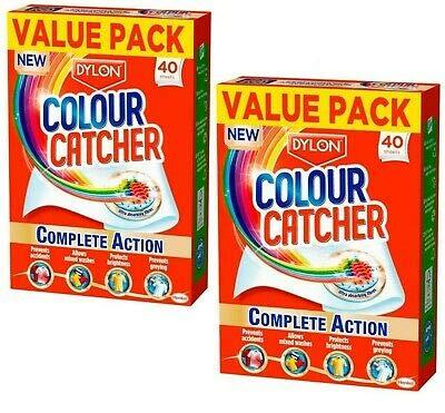 Dylon Colour Catcher Complete Action Laundry Sheets - Pack of 2 X 40 Sheets
