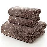 Juego de toallas de algodón 3 piezas/juego de toallas de baño...