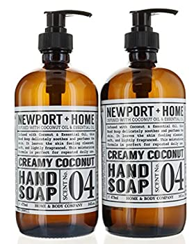 2 Bottles Hand Soap Creamy Coconut 16 oz/473 ml Infused w/Coconut Oil & Essential Oil by Home and Body Co