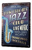 なまけ者雑貨屋 Travel Kitchen Jazz New Orleans アメリカン 雑貨 ナンバープレート ヴィンテージ風 ライセンスプレート メタルプレート ブリキ 看板 アンティーク レトロ