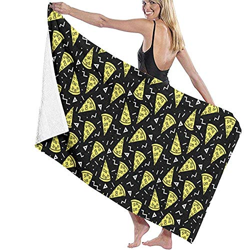 N/A Beach Towels Funny Pizza Large Beach Blanket Towel Ultra Soft Highly Absorbent Bath Towel Oversized