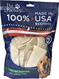 Pet Factory 78138 Beefhide Dog Chews, 99% Digestible Rawhide Treats, 100% Natural Rawhide Chips, 8 oz Resealable Package, Made in USA