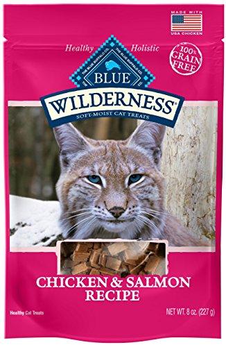 Blue Buffalo Wilderness Grain Free Soft-Moist Cat Treats, Chicken & Salmon 8-oz bag Blitz Nur Spec Cat