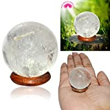 Reiki Crystal Products Natural Crystal Stone Ball - Sphere Clear Quartz Ball for Reiki Healing Stone Ball 30 mm Approx