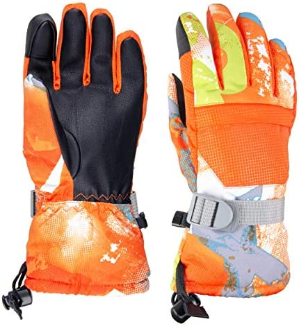TRIWONDER Kids Winter Snow Ski Gloves Waterproof Touch Screen Cold Weather Gloves Boys Girls product image