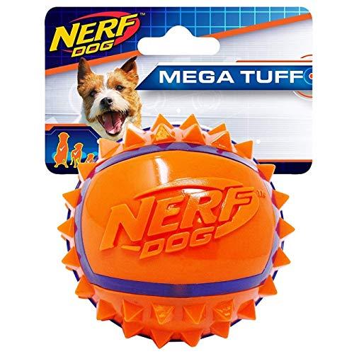Nerf Dog VP6680E TPR Spike Ball Ballon de Football Bleu/Orange 6,3 cm