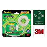 Scotch Magic Tape - The Original Matte-Finish Invisible Tape by 3M, Super Saver Pack - 2 Rolls (Width 1.9cm Length 25.4m) + 1 Dispenser safety posters Apr, 2021