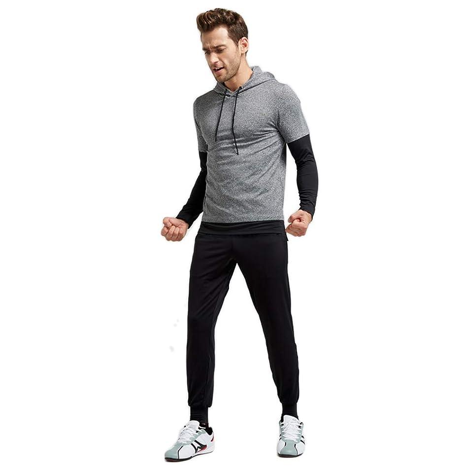 明示的に放射する分布メンズ トレーニングウェア コンプレッションウェア 3点セット 半袖シャツ ハーフパンツ タイツ スポーツ トレーニング