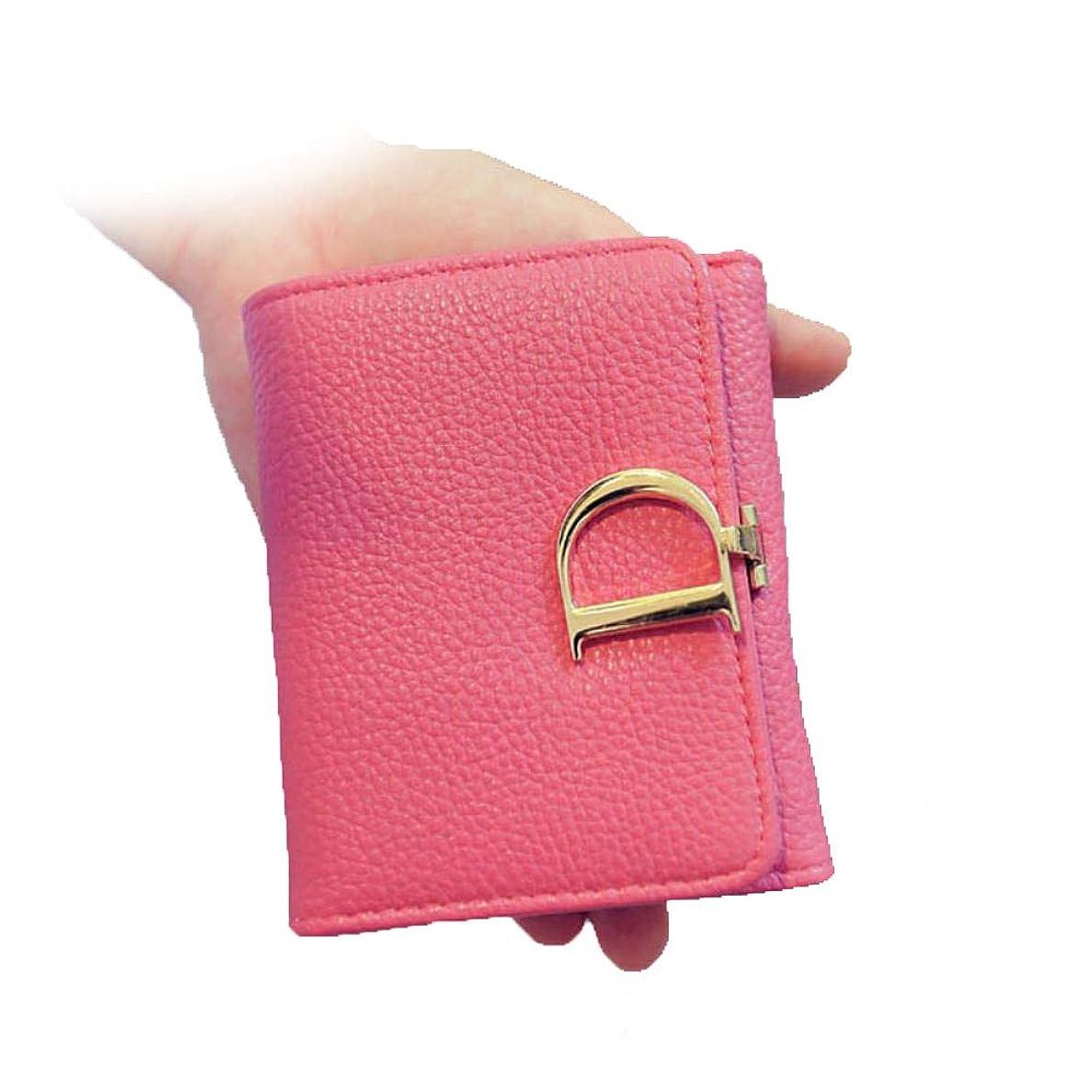 贅沢倫理的水素クラッチバッグ女性用小銭入れDレタータワーバックルレディース財布シンプルな日本と韓国の短いセクション3つ折り財布女性