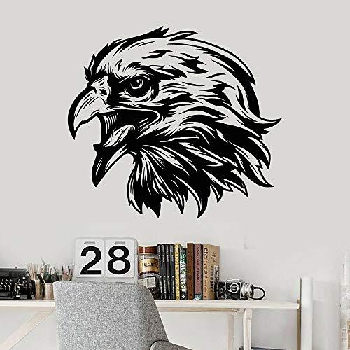 Blrpbc Adhesivos Pared Pegatinas de Pared Animales Vinilo pájaro Calvo Tribal Pegatina símbolo águila Cabeza Pico Pegatinas hogar Dormitorio Arte Papel Tapiz Mural 92x84cm