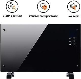 Panel de 2000W radiadores eléctricos Calentador Ultra-delgada con patas de habitaciones calentador de infrarrojos del mando a distancia e inteligente botón táctil LED del ventilador del calentador par