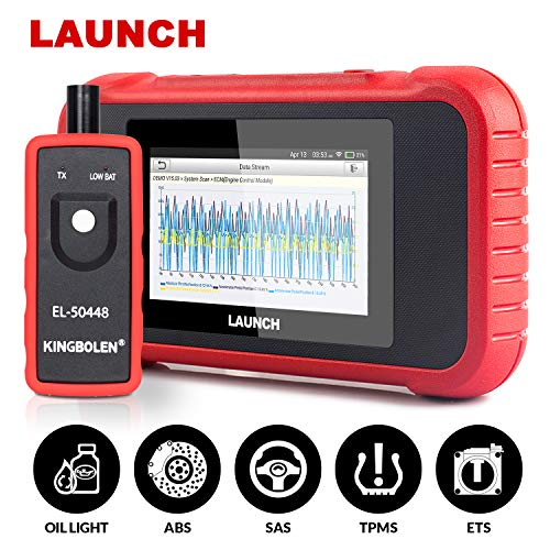 LAUNCH OBD2 Scanner CRP129E (Upgraded CRP129) Check Engine ABS SRS Transmission Systems Reset Oil Service/EPB/TPMS/SAS/Throttle Body,Print Health Report- Free Update+EL-50448 as Gift-Advanced CRP129