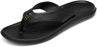 Men Sandals Mens Thong Flip Flops Flats Slipper Summer Beach Indoor Outdoor Sandals Microfiber Leather Comfortable