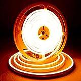iNextStation LEDネオンライト 12V 5M SMD 2835 120LEDs/m 高輝度 防水 調光可能 切断可能 (電源アダプタ含まれません) 「オレンジ」