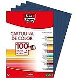 Fixo 11110434 Confezione di 100 cartoncini, formato: A4, colore: blu mare