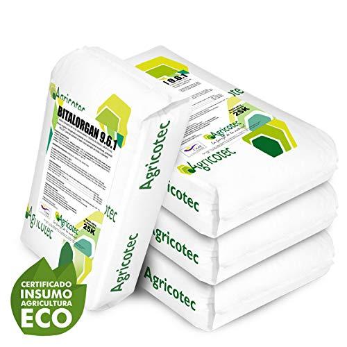 Abono Organico Ecologico NPK 9-6-1. Rico en materia orgánica y ácidos húmicos (250kgs)