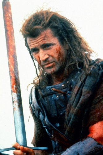 Nostalgia Store Poster Mel Gibson als William Wallace in Braveheart, 60 x 91 cm