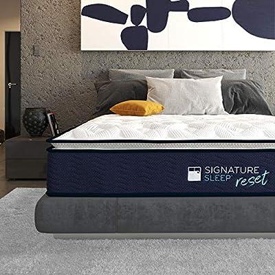 "Signature Sleep Reset 12"" Nanobionic Pillow Top Hybrid Mattress"