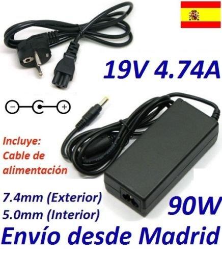 Adaptador Cargador para HP Pavilion DV6 19V 4.74A 90W, Conector 7.4mmx5.0mm, Marca DNX INCLUIMOS EL Cable DE ALIMENTACIÓN